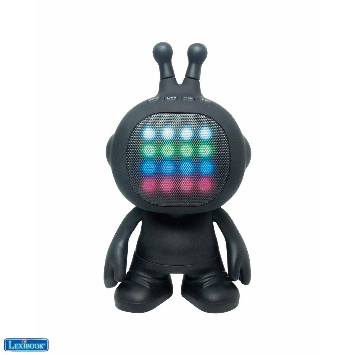 Lexibook - Robot Shape Speaker TWS/Stereo with lights, rubber finish (BTLS300)