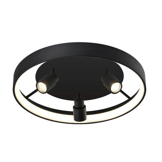 Denis LED-taklampe, sirkelformet med 3 spotter