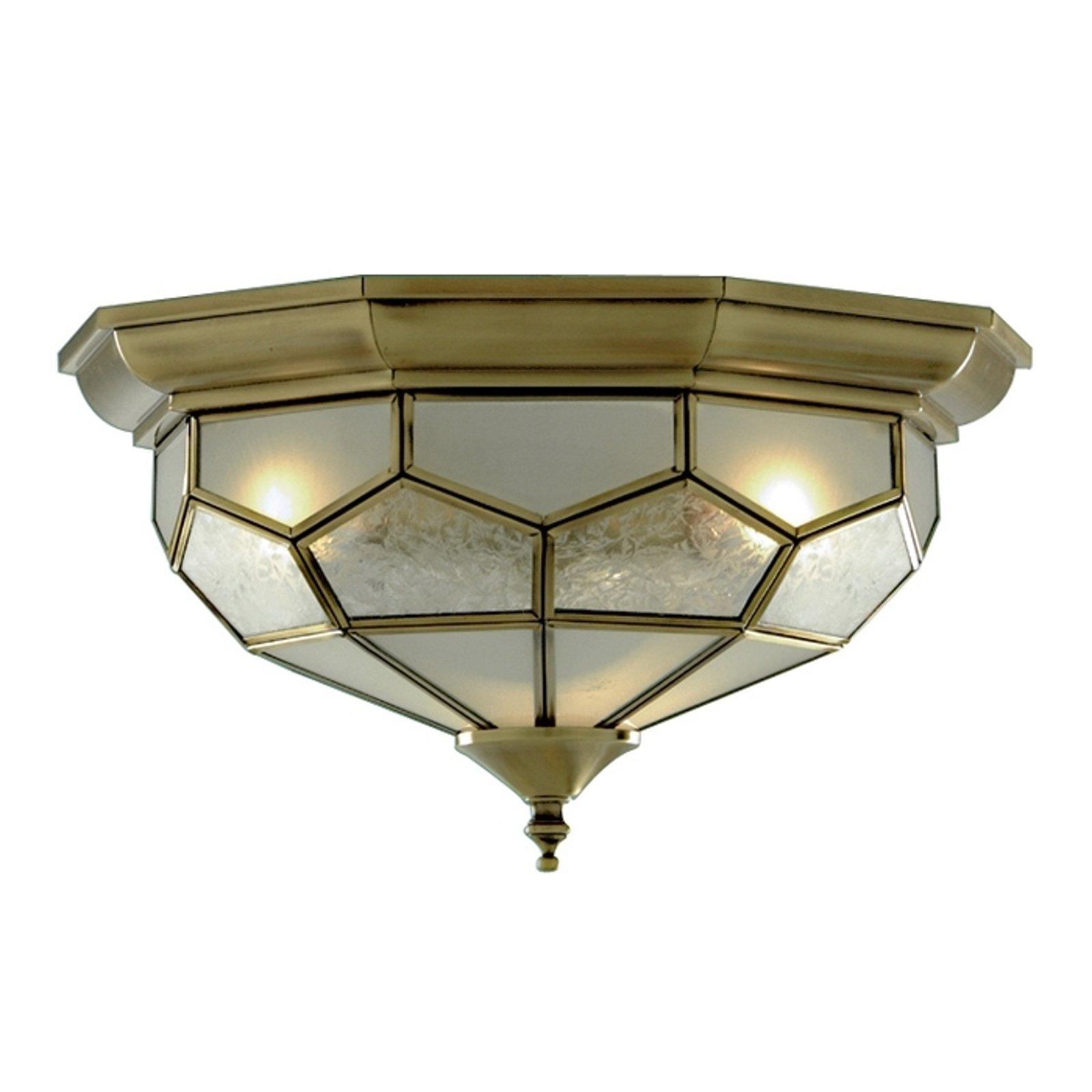 Vakker taklampe FRIDA med glassinsats.