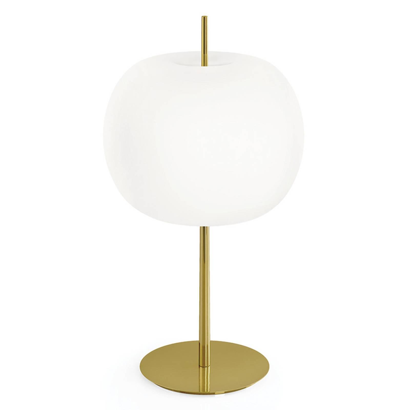 Kundalini Kushi XL -pöytälamppu messinki/valkoinen