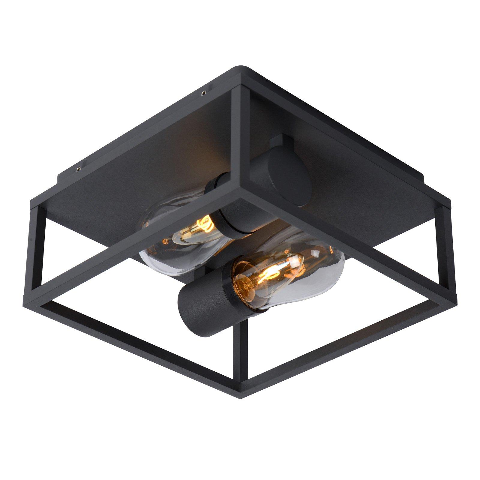 Taklampe Carlyn baderom 2 lyskilder svart