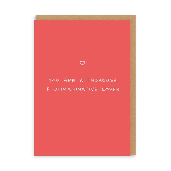 Thorough If Unimaginative Greeting Card