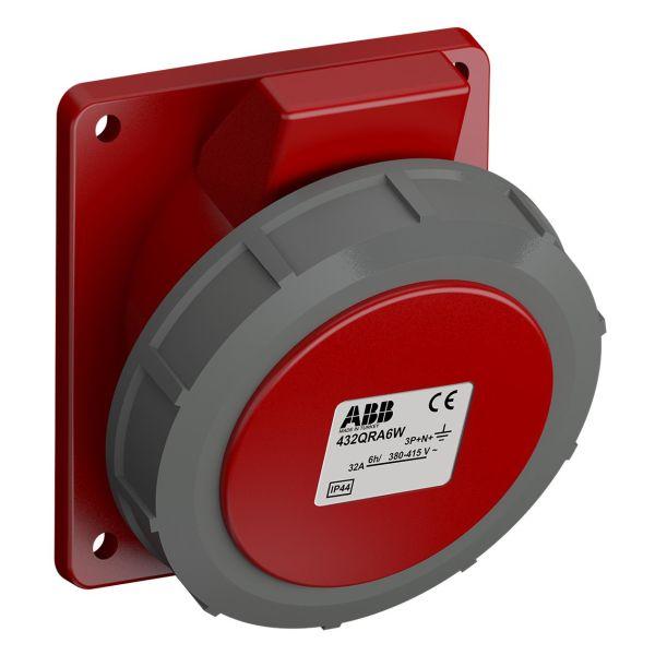 ABB 2CMA102397R1000 Paneluttak hurtigtilkoblet, vibrasjonsbestandig Vinklet, 5-polet, 32 A