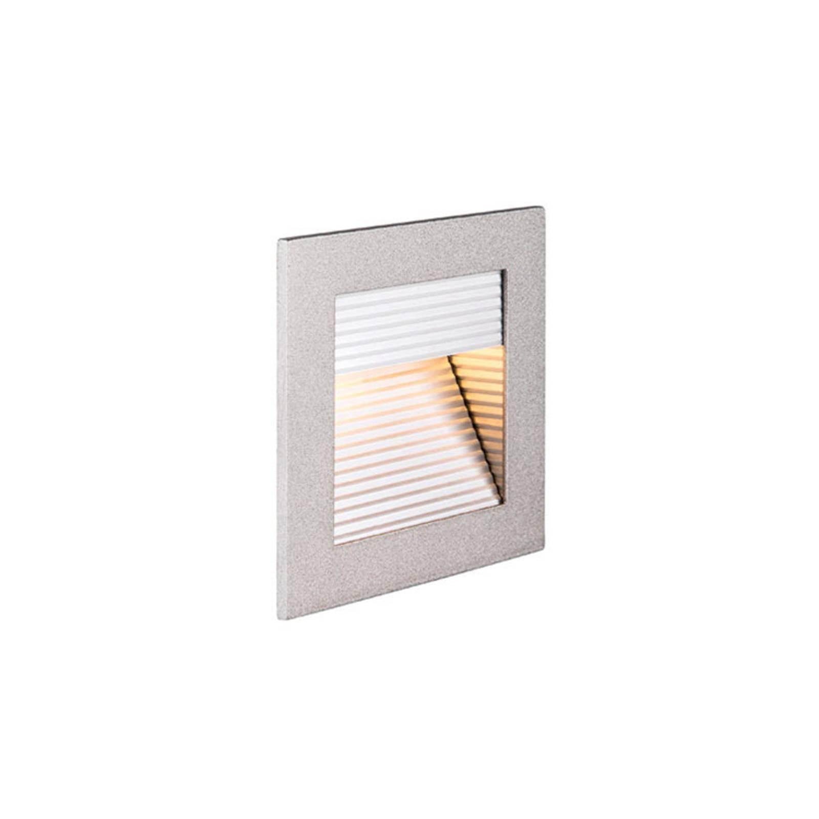 SLV Frame Curve -LED-uppovalaisin, hopea