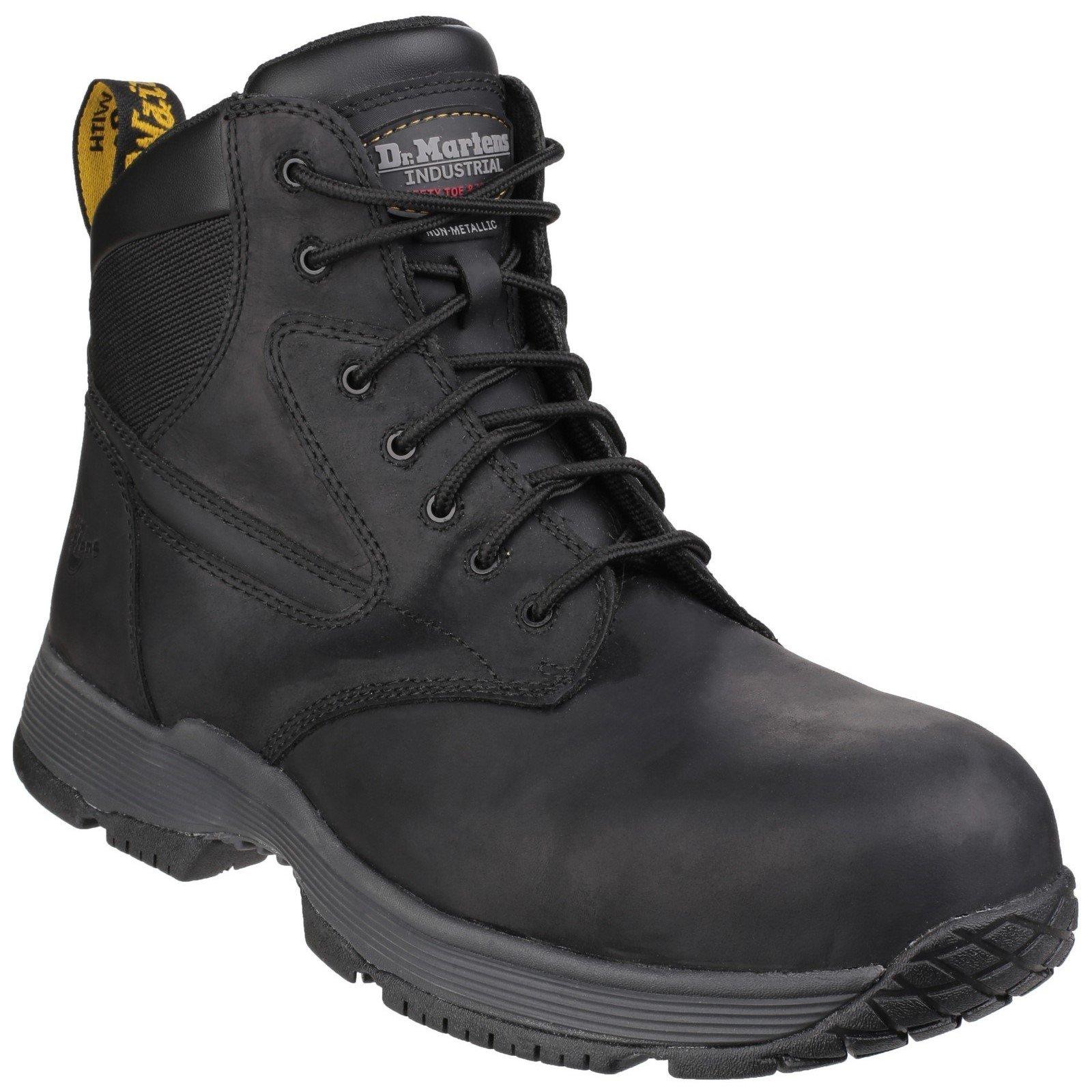 Dr Martens Unisex Corvid Composite Lace up Safety Boot Black 24862-41125 - Black 6