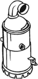 Katalysaattori, Edessä, CITROËN,PEUGEOT, 1731YS, 173801, 173886, 1738E4, 9676885380, 9677018080, 9677018180, 9805784080, 9805784180, 980