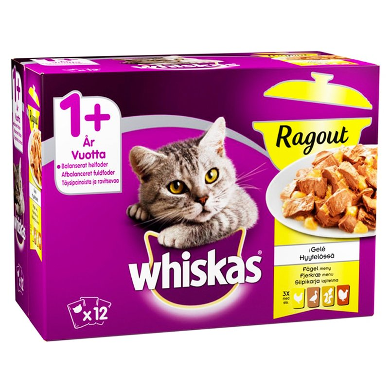 Kissanruoka Siipikarja Lajitelma 12kpl - 24% alennus