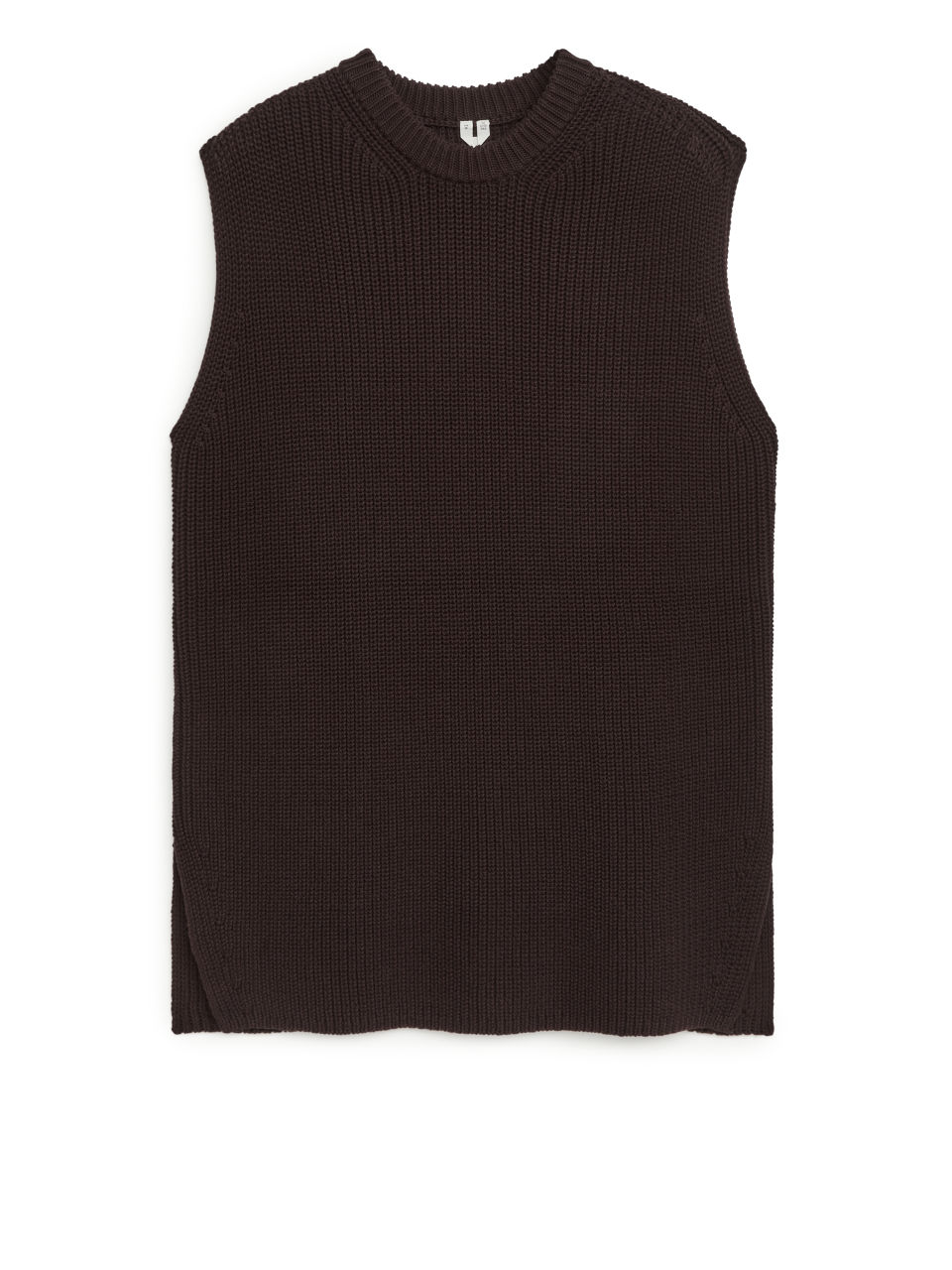 Knitted Vest - Brown