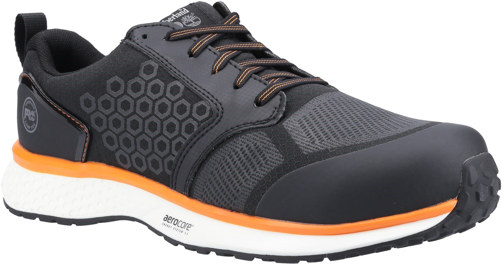 Timberland Pro Men's Reaxion Composite Safety Trainer Various Colours - Black/Orange 6