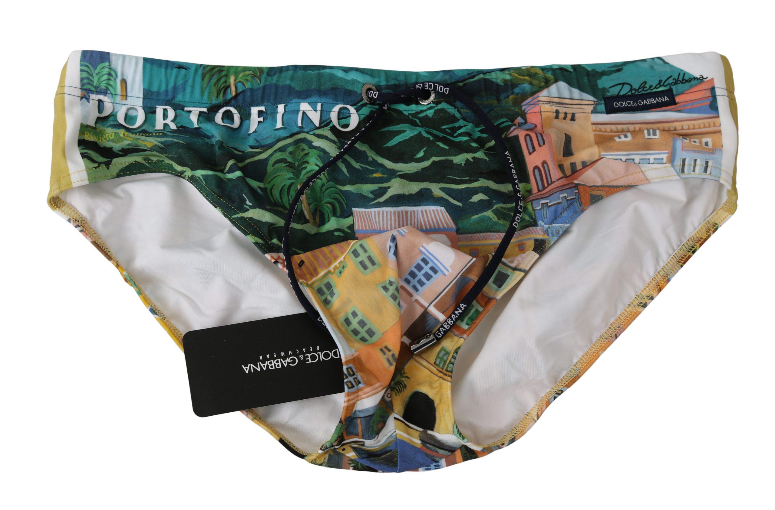 Dolce & Gabbana Men's PORTOFINO Nylon Stretch Briefs Green BIK986 - IT4   S