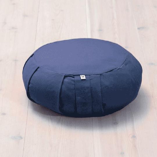 Meditation Cushion Round, Blueberry Blue