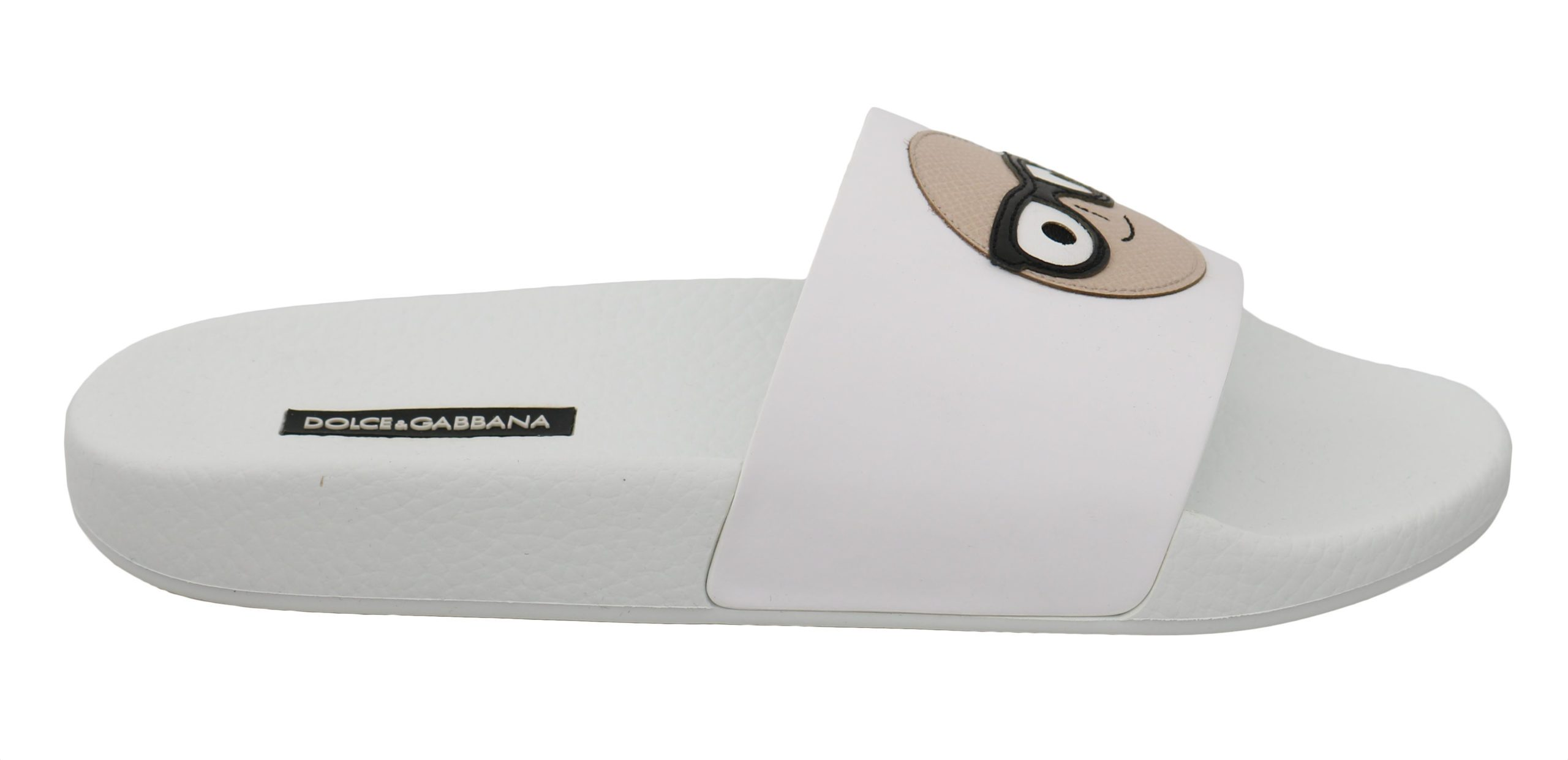 Dolce & Gabbana Women's Leather Slides Sandals White LA6250 - EU35/US4.5