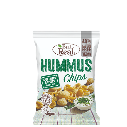 Hummus Chips Sour Cream & Chive, 135 g