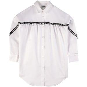 Karl Lagerfeld Kids Logo Trim Skjorta Vit 4 år