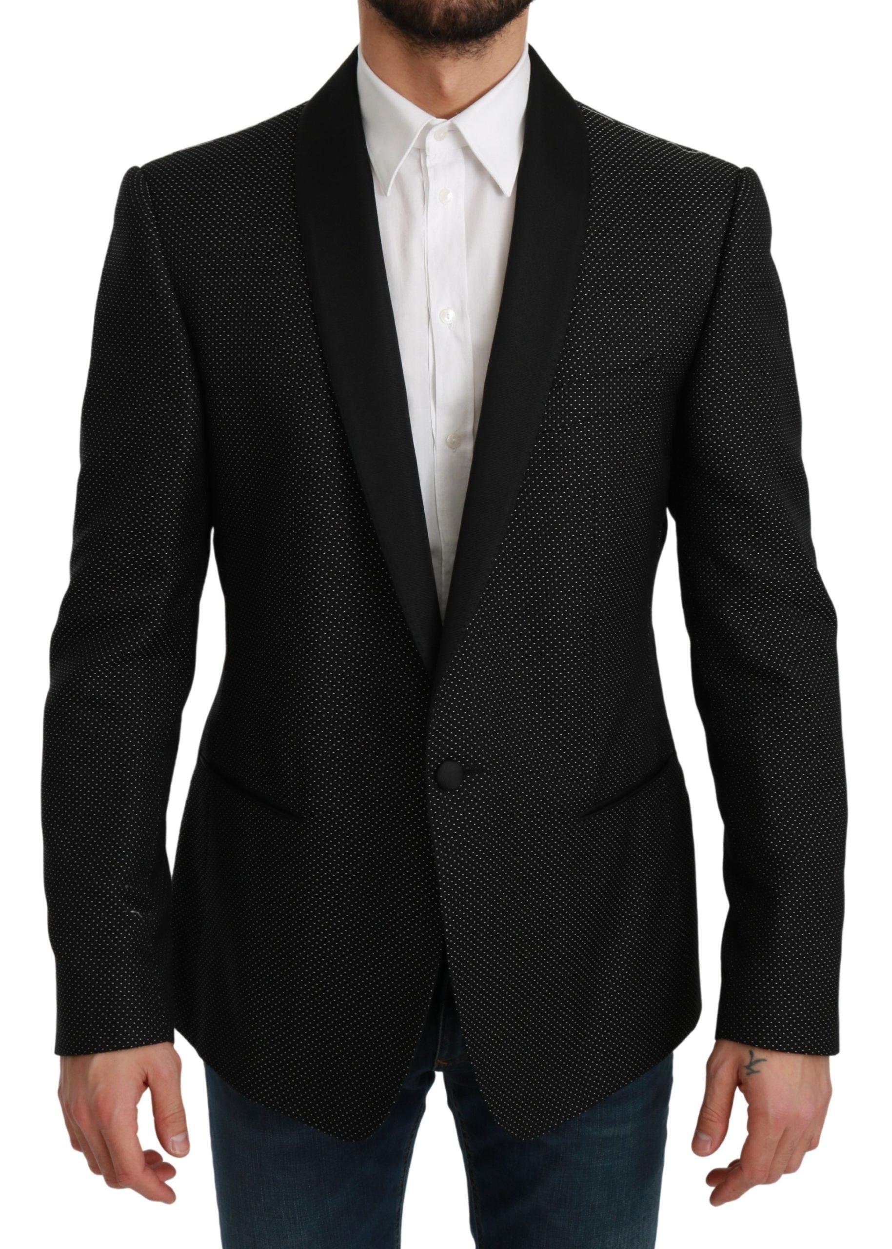 Dolce & Gabbana Men's Slim Fit Formal MARTINI Blazer Black KOS1716 - IT52   L