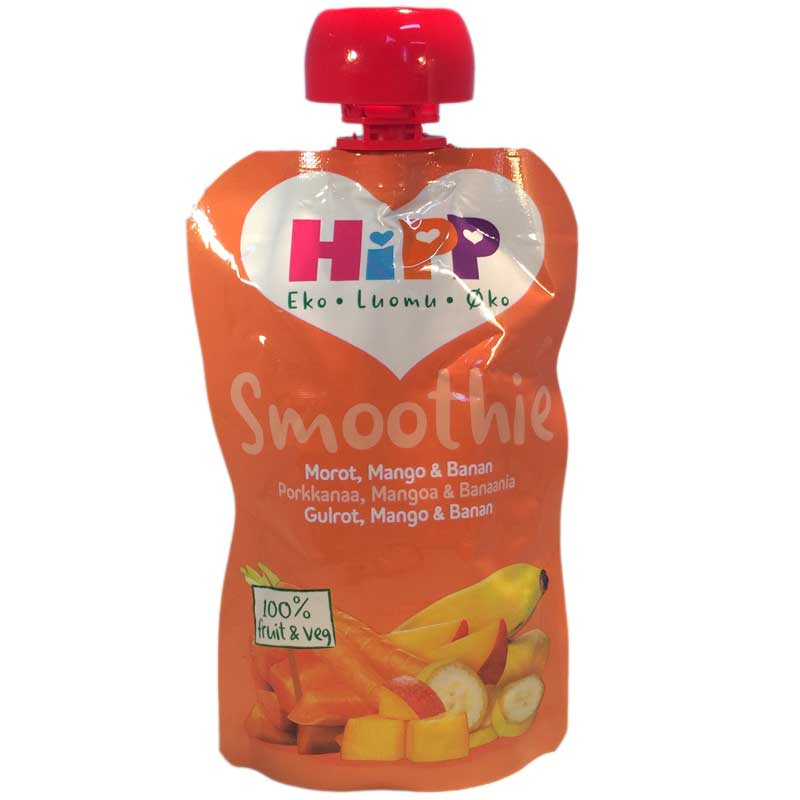 Hipp Smoothie Morot, Mango, Banan - 33% rabatt