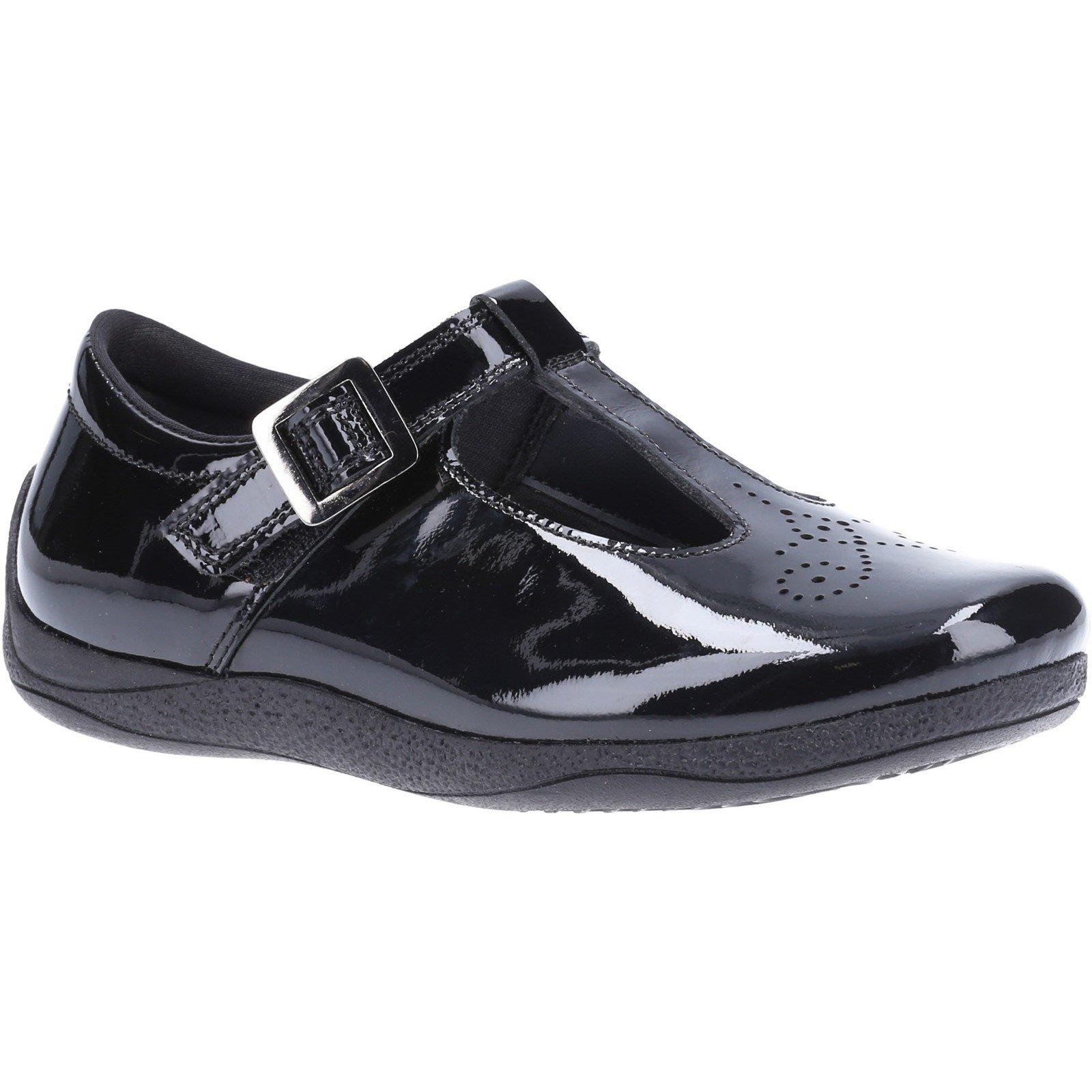 Hush Puppies Kid's Eliza Senior School Shoe Patent Black 32592 - Patent Black 3