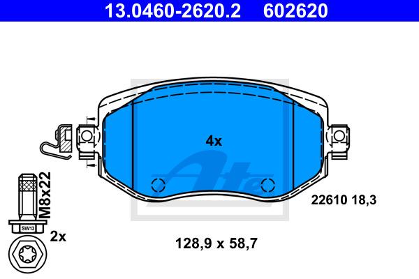 Jarrupalasarja, levyjarru ATE 13.0460-2620.2