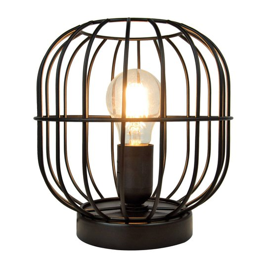 Bordlampe Zenith i burform, svart
