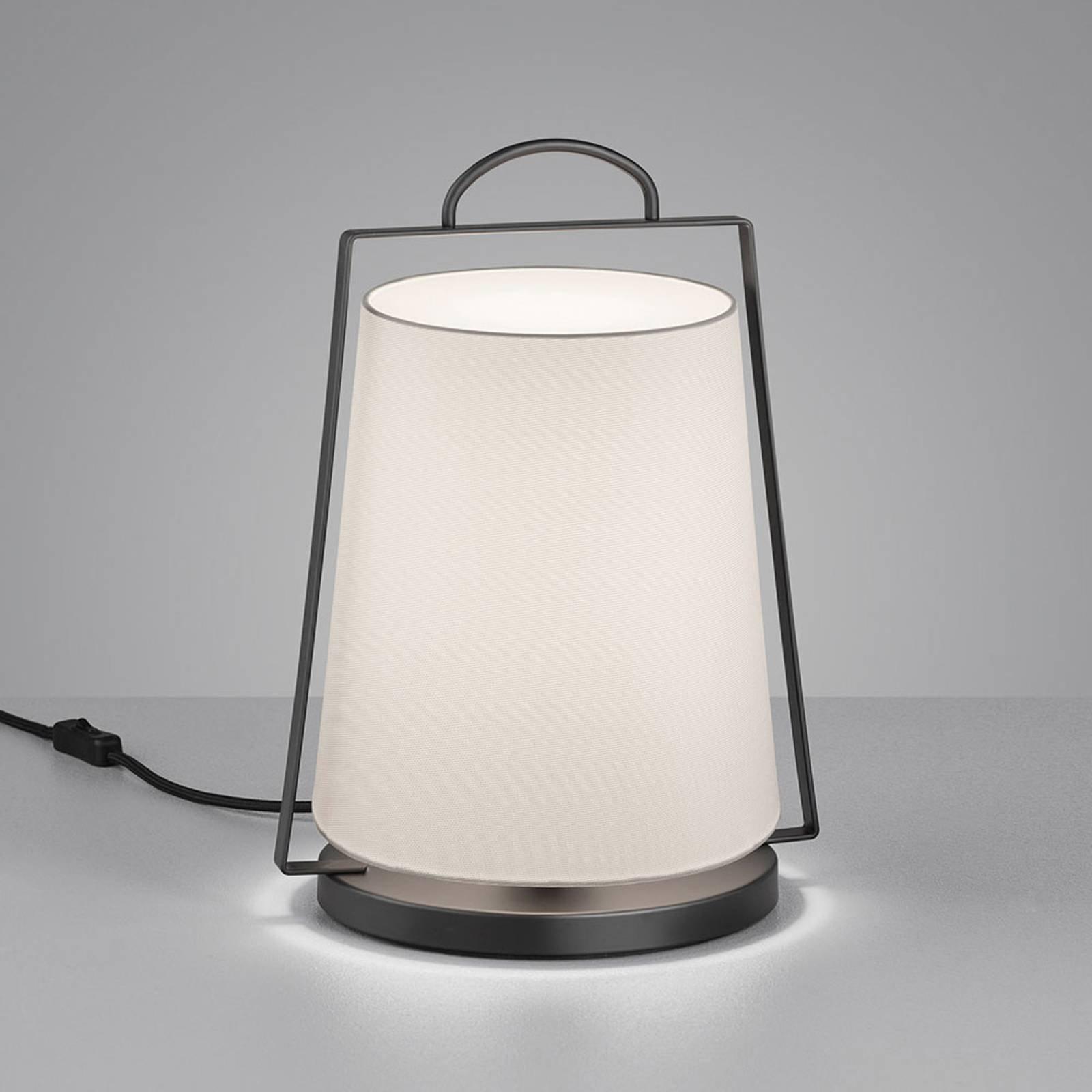Helestra Uka bordlampe med tekstilskjerm, hvit