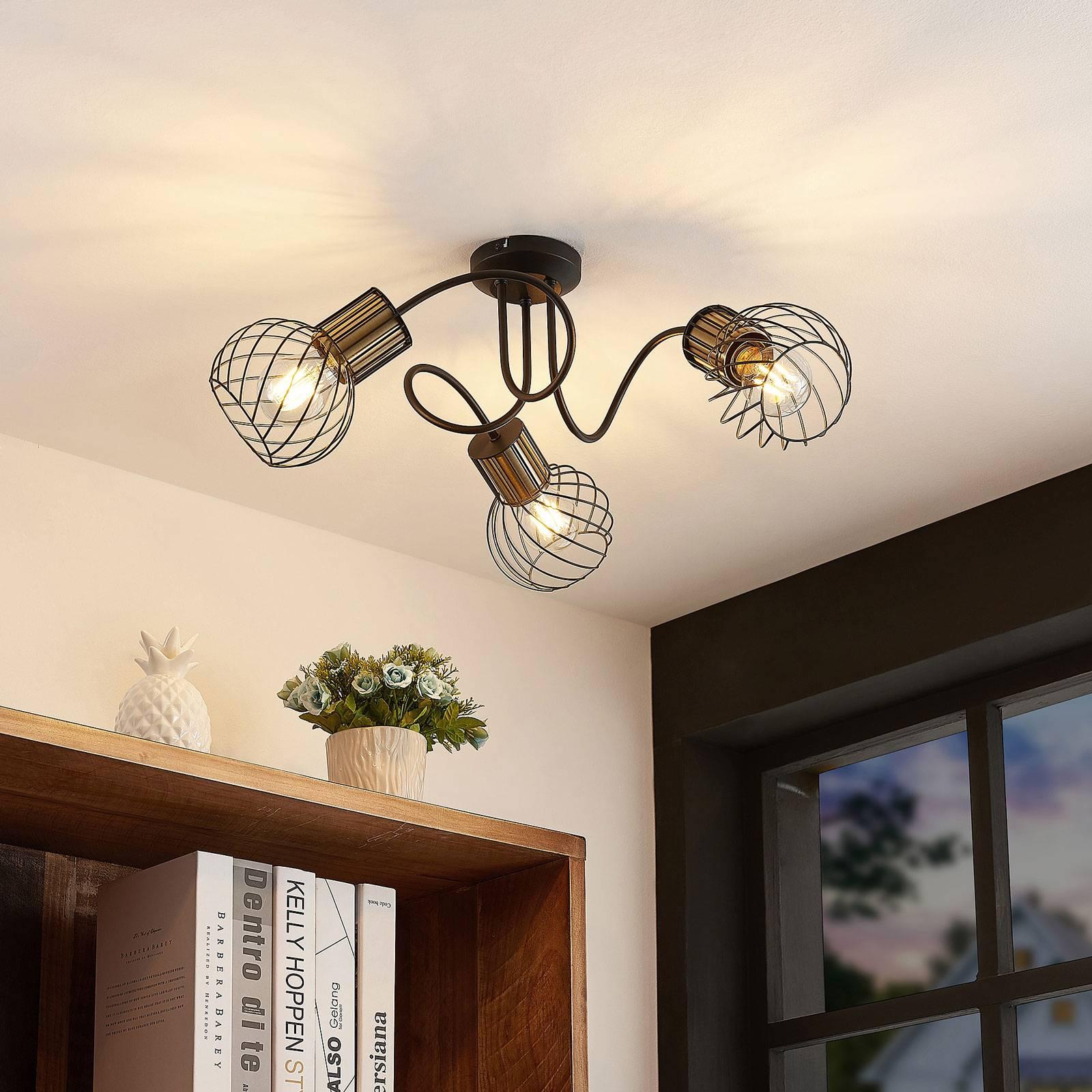 Lindby Cornel -kattovalaisin, 3-lamppuinen
