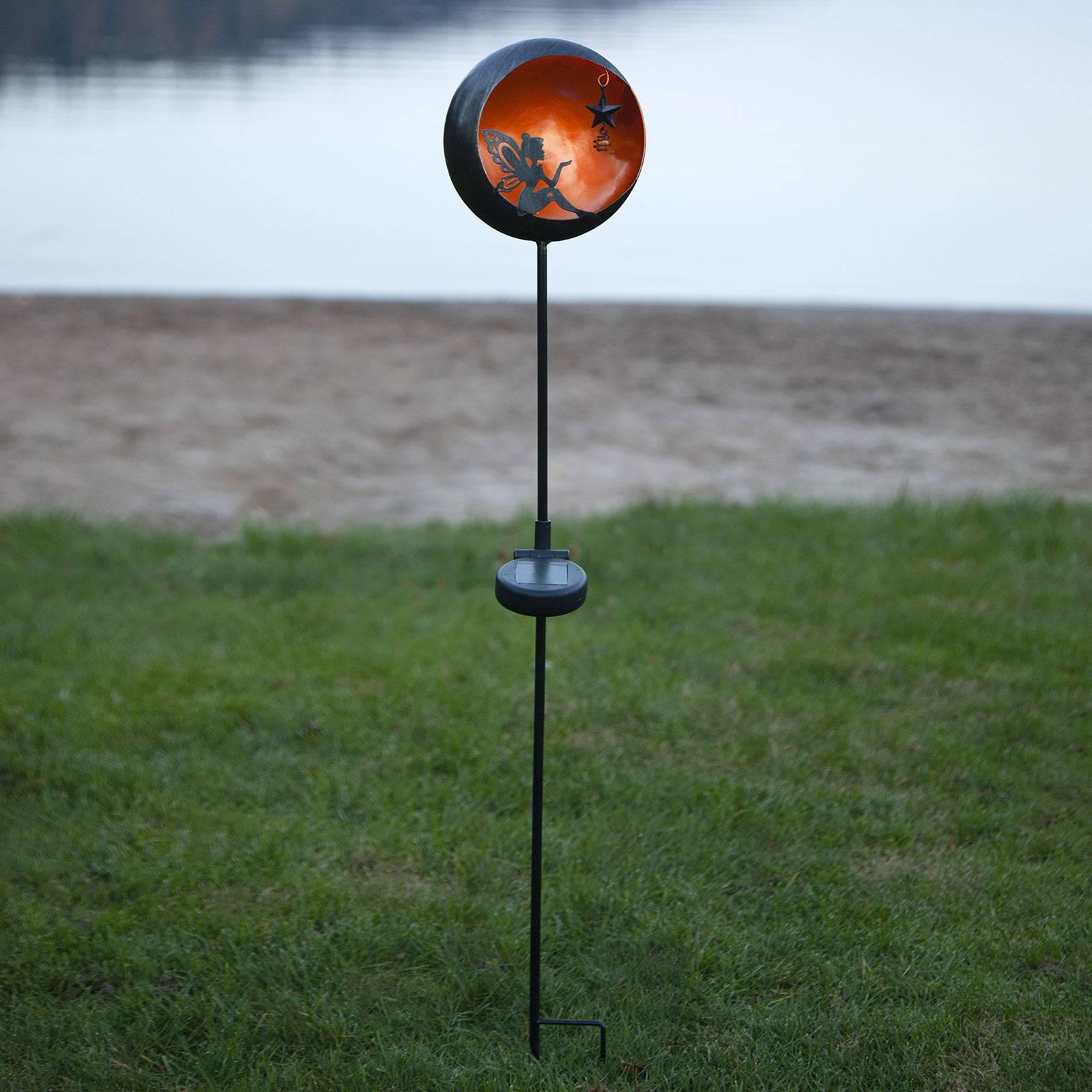 Aurinkokäyttöinen Fairytale-LED-valaisin, oranssi