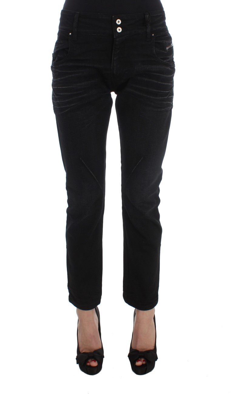 Costume National Women's Cotton Slouchy Slims Fit Jeans Black SIG32582 - W26