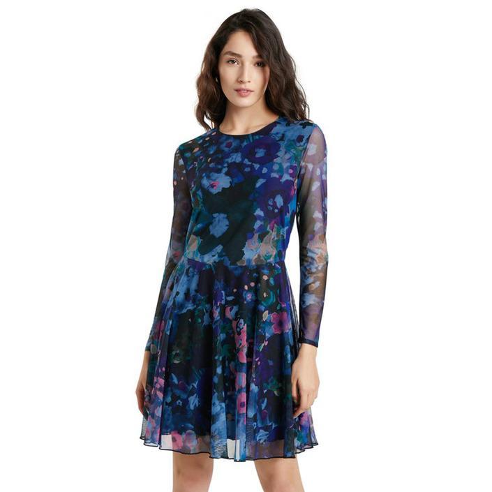 Desigual Women's Dress Blue 319884 - blue XL