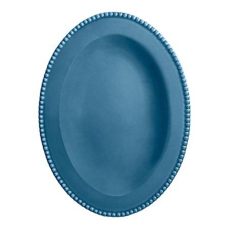 Fat Ovalt 40 cm Havblå