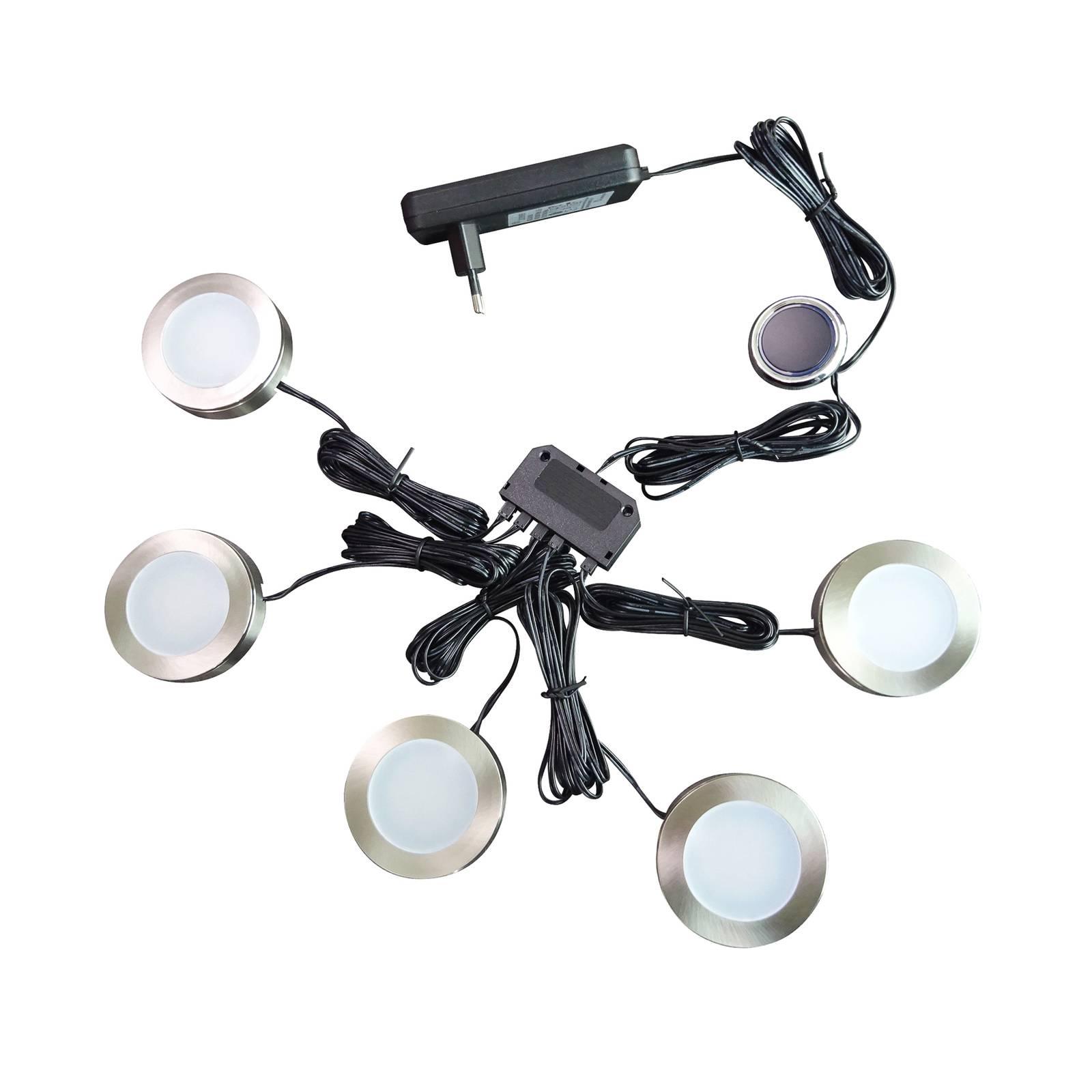 Arcchio Vilam -LED-kaapinalusvalaisin, 5 kpl