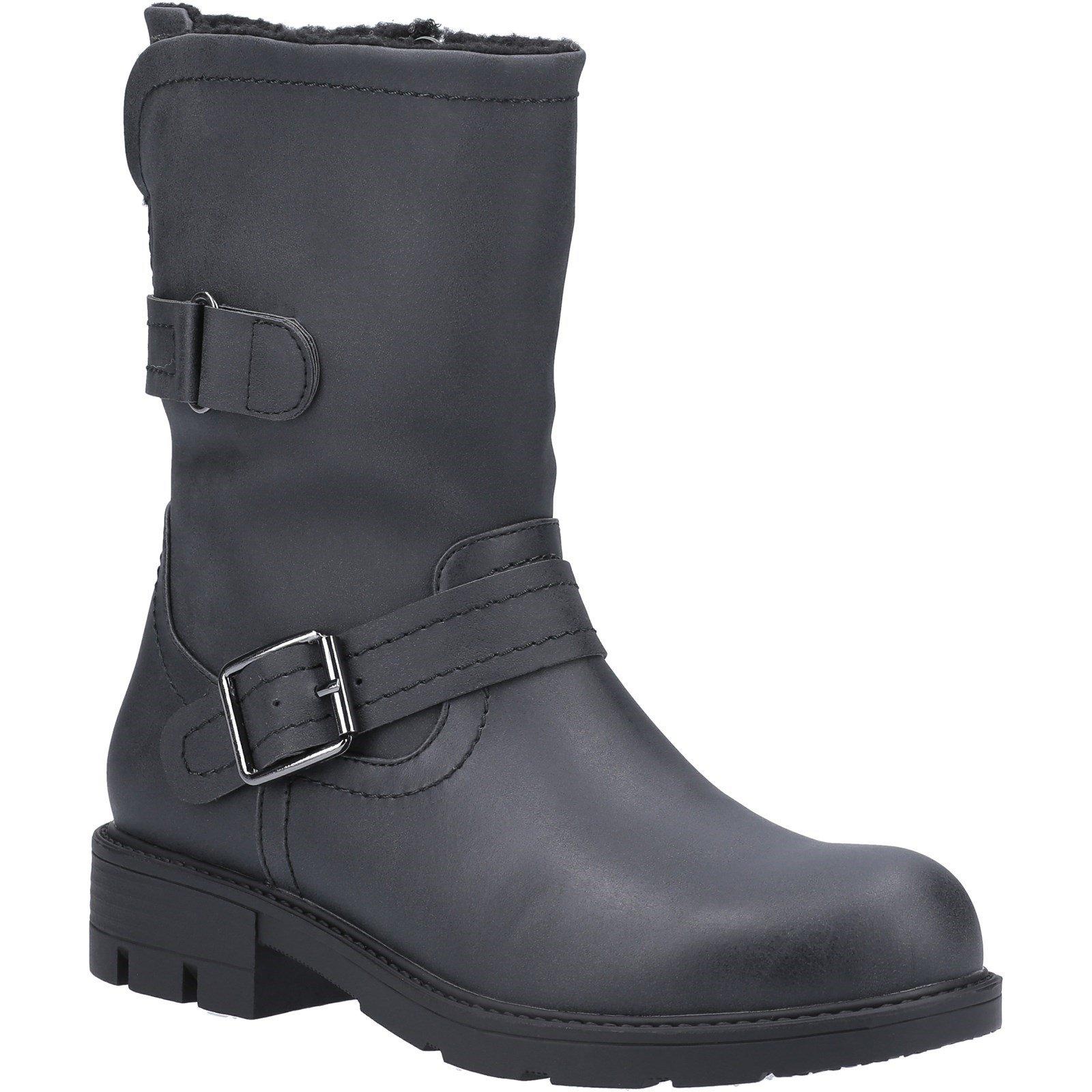 Divaz Women's Whitney Fur Lined Boot Various Colours 31086 - Black 3