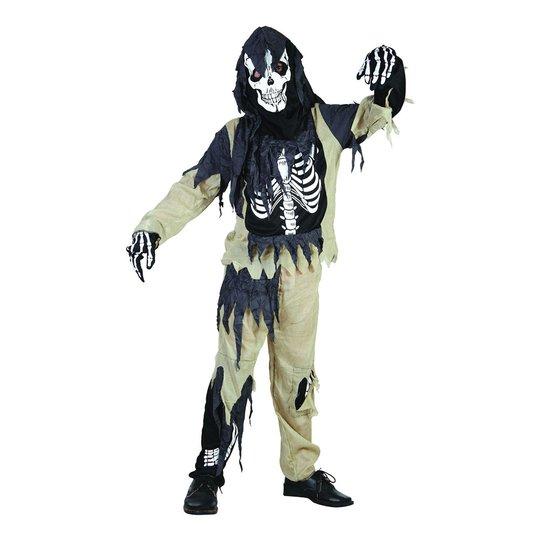 Skelett Zombie Barn Budget Maskeraddräkt - Small