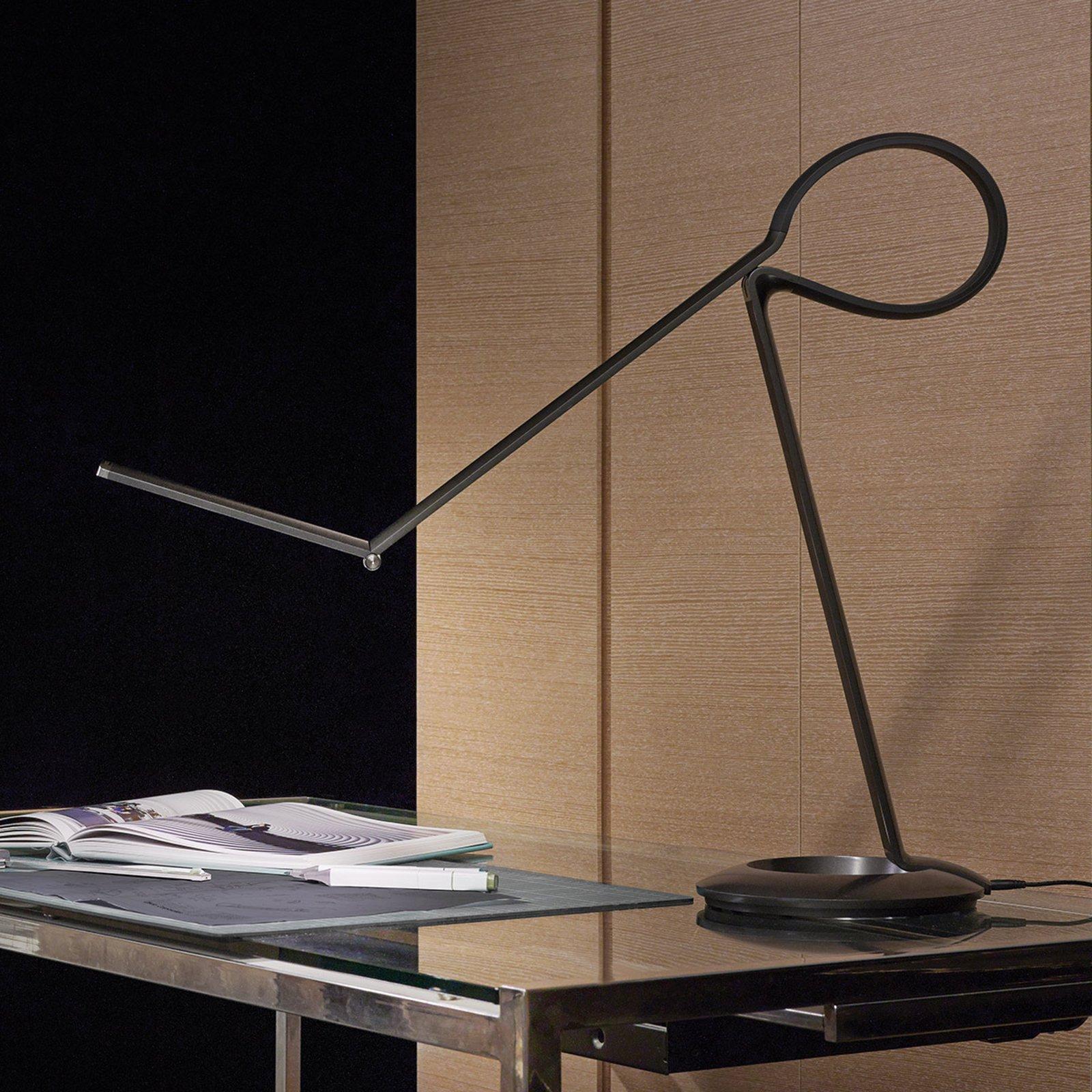 Mangesidig LED-designbordlampe Compasso
