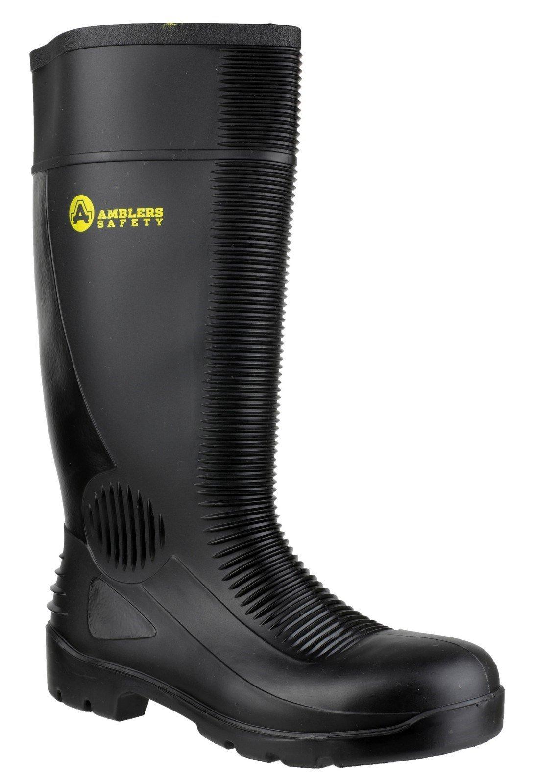 Amblers Unisex Safety Construction Wellington Boot Black 21233 - Black 5