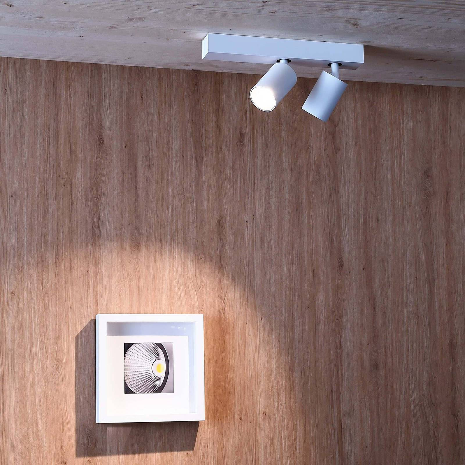 LED-kattokohdevalo Klara, 2-lamppuinen
