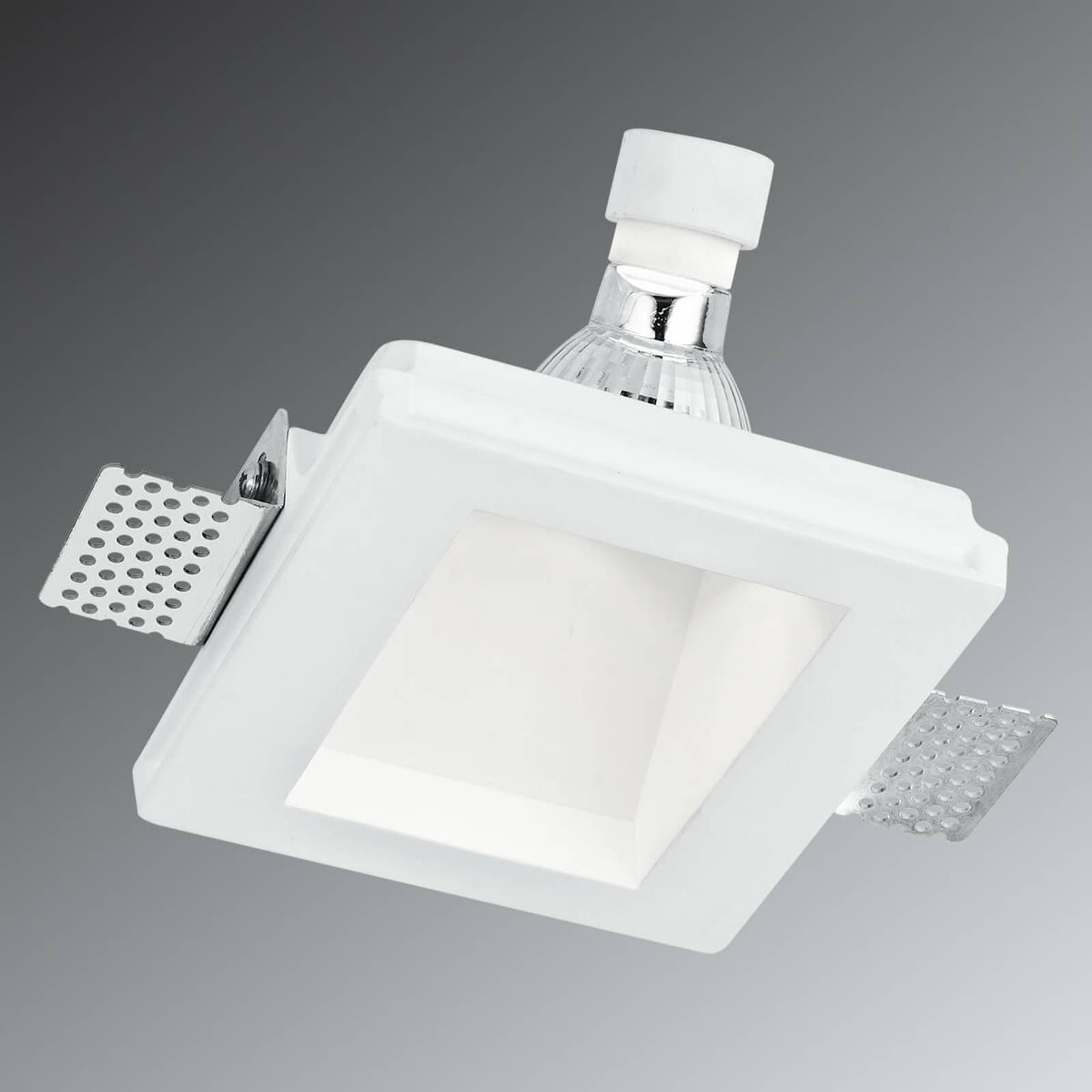 Ghost- halogen-downlight av gips, dybde 6,5 cm