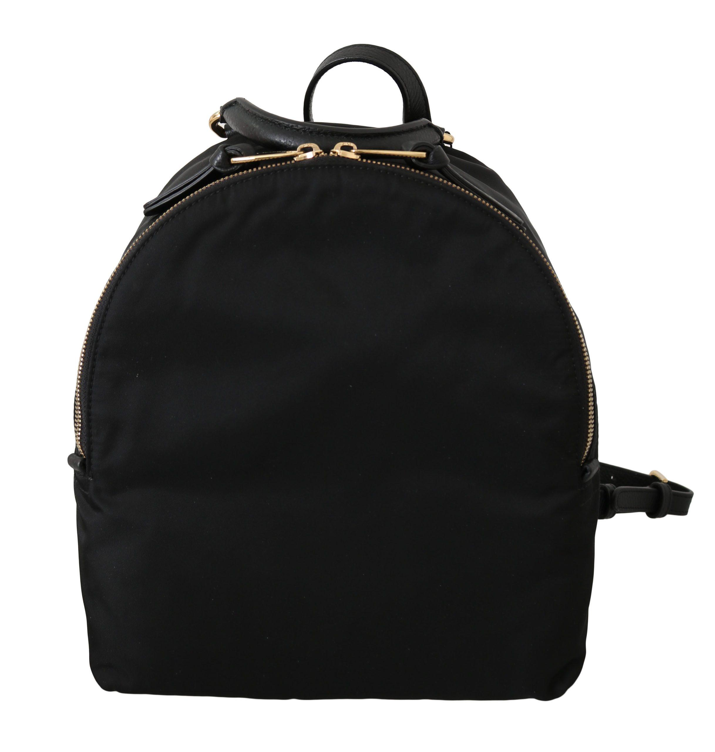 Black Women School Travel Nylon Backpack