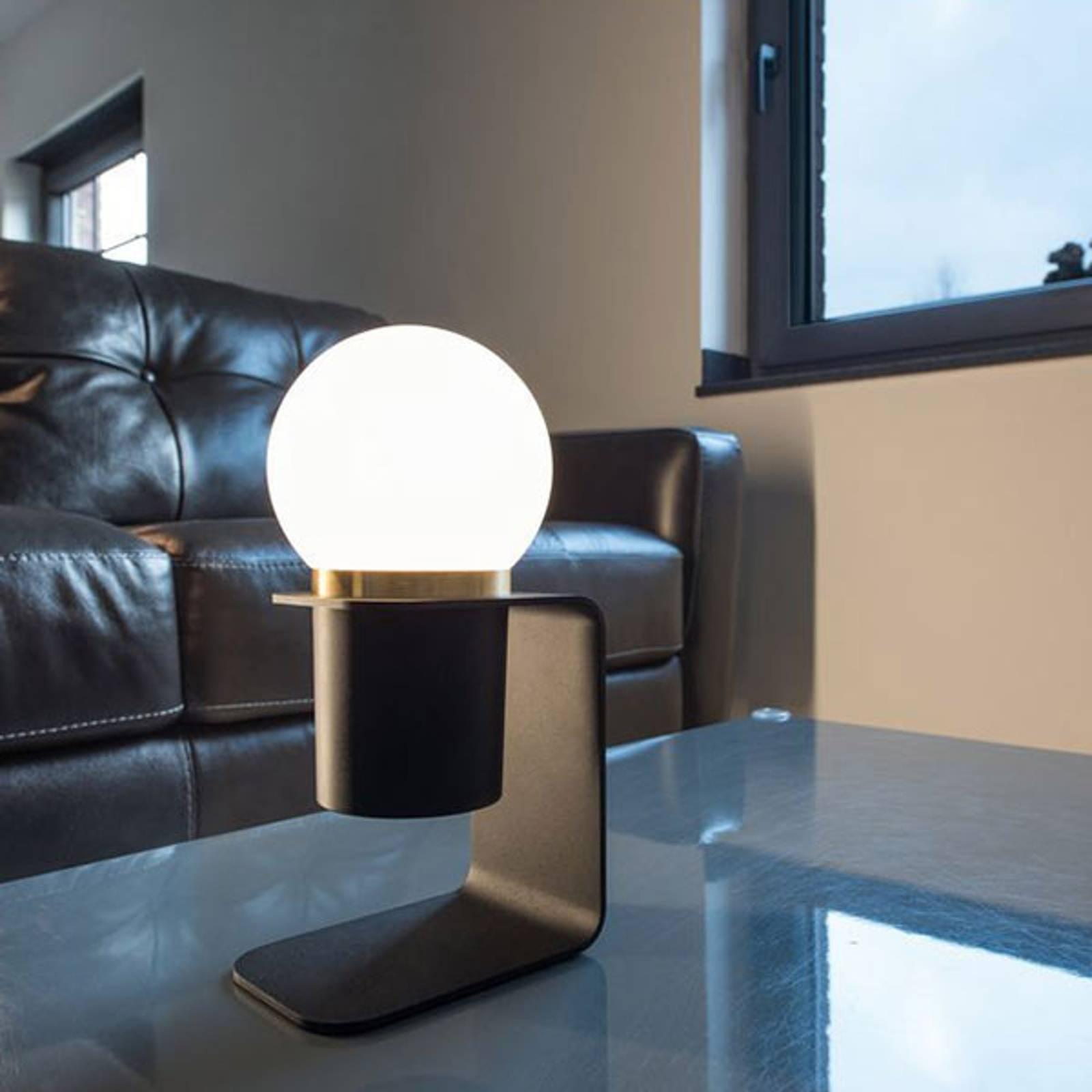 SLV Tonila -LED-pöytälamppu musta/messinki
