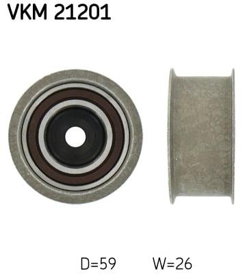 Ohjainrulla, hammashihna SKF VKM 21201
