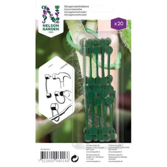 Nelson Garden 6016 Köynnöspidike Vihreää muovia, 20 kpl/pakkaus