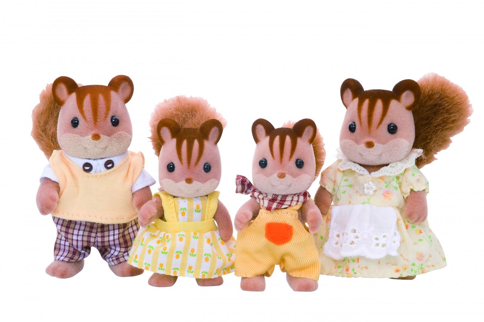 Sylvanian Families - Walnut Squirrel Family (4172)