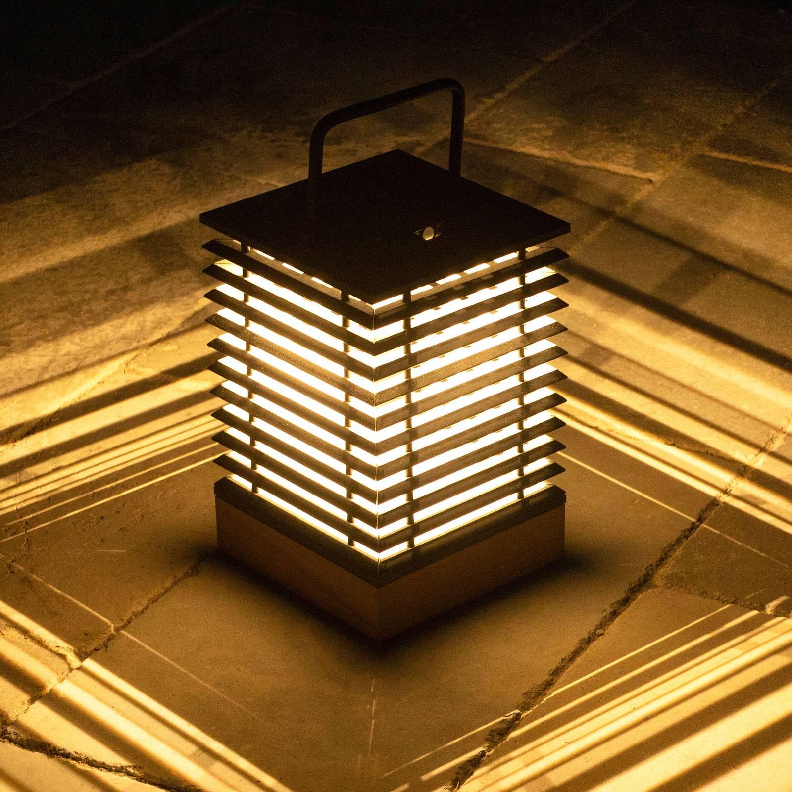 Aurinkokäyttöinen LED-lyhty Tekura, korkeus 37 cm