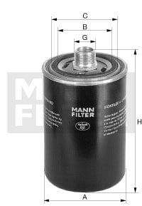 Hydrauliikkasuodatin, automaattivaihteisto MANN-FILTER WD 940/4