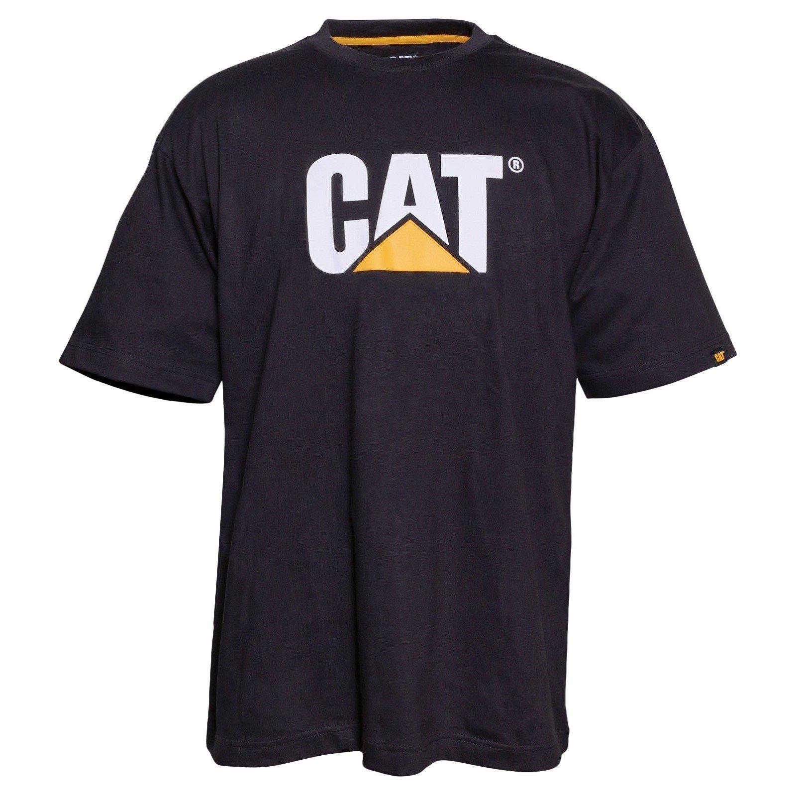 Caterpillar Men's Trademark Logo T-Shirt Various Colours 25301-42086 - Black XX