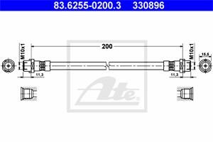 Jarruletku, Taka-akseli, BMW X5 [E70], 34 30 6 775 804