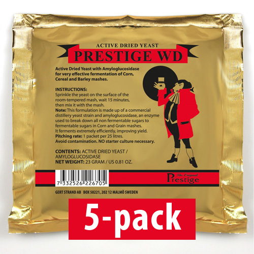 WD-Jäst för 25 liter 5-Pack