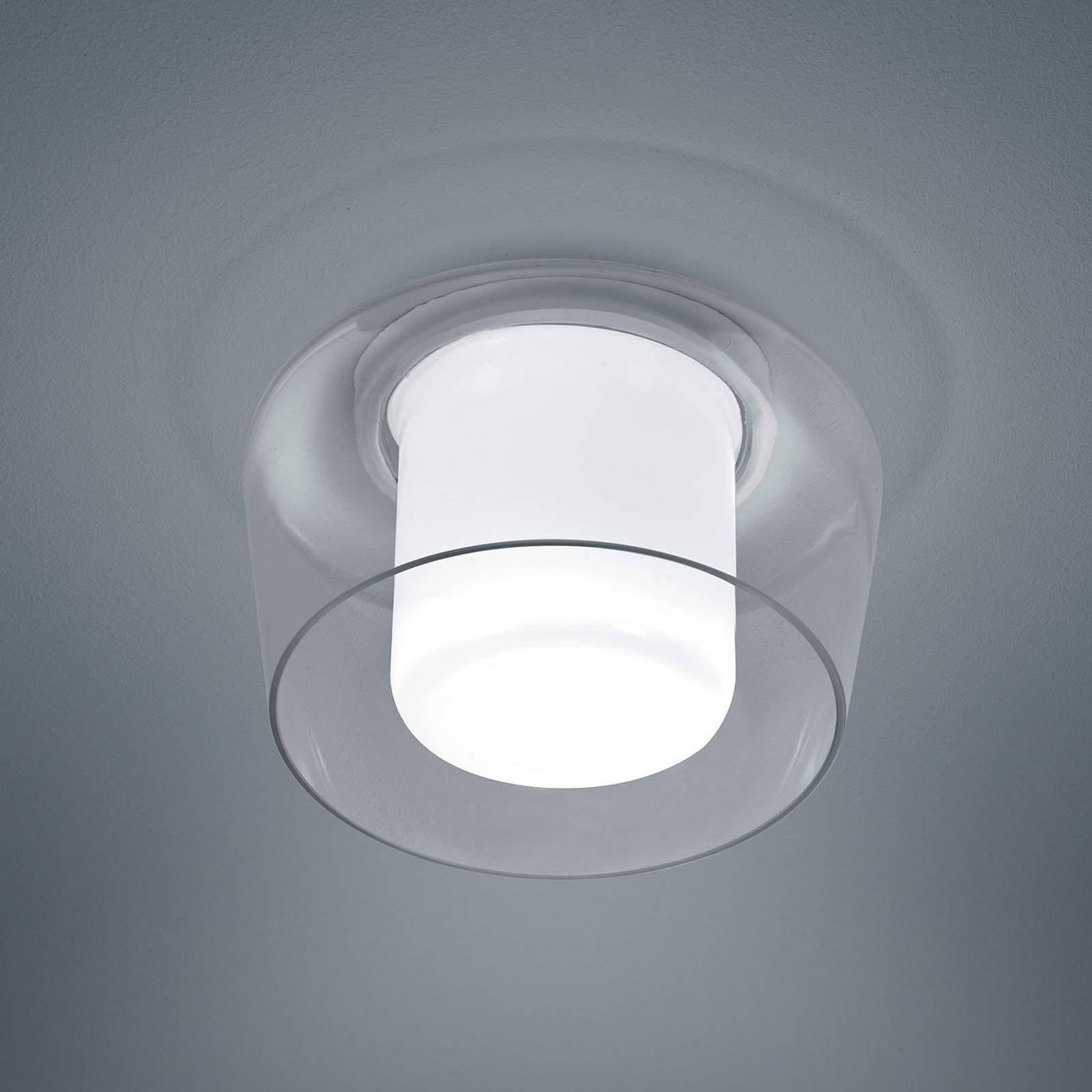 Helestra Canio taklampe av glass, klar utvendig