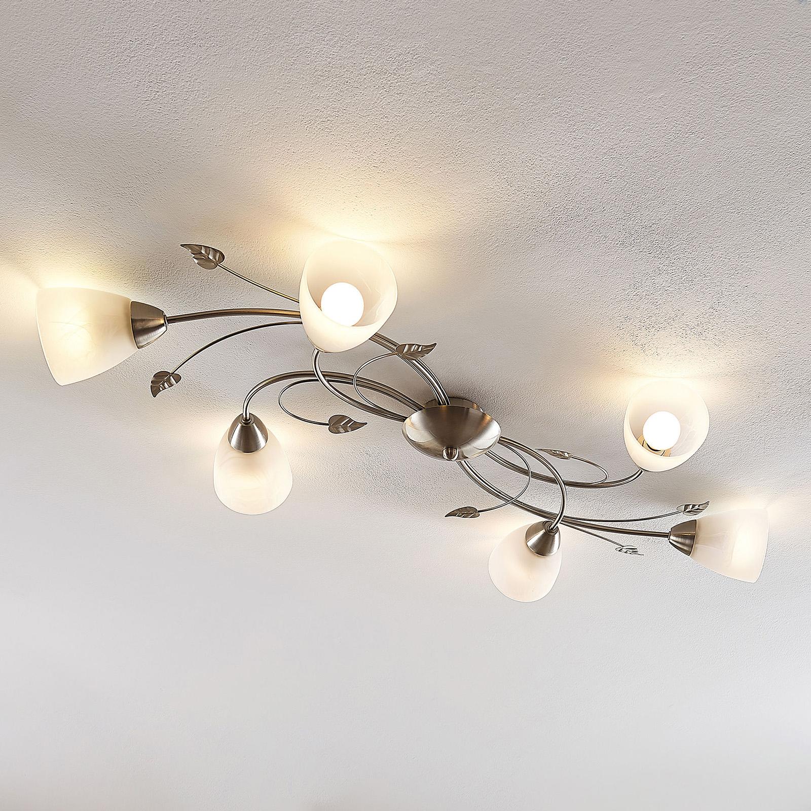 Lindby Yannie LED-kattovalaisin, 6-lamppuinen