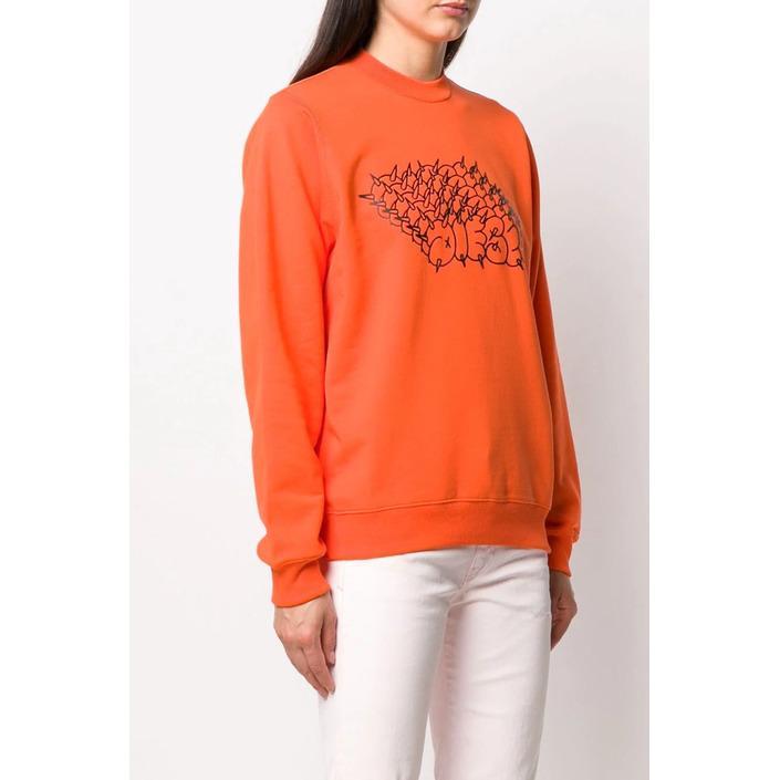 Diesel Women's Sweatshirt Orange 298736 - orange S