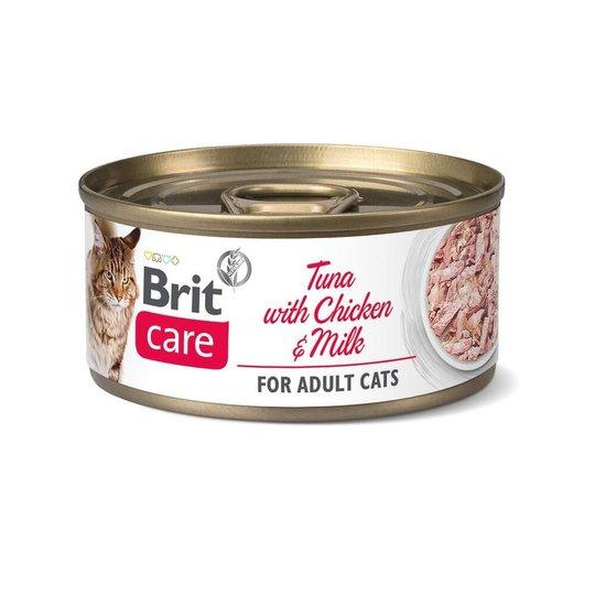 Brit Care Cat Adult Tonfisk, Kyckling & Mjölk 70 g